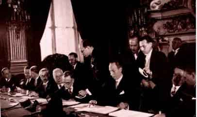 Signature du traite Franco Syrien, Septenmbre 1936
